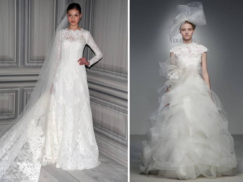 vera wang and monique lhuillier feature sleeved wedding With vera wang wedding dresses with sleeves