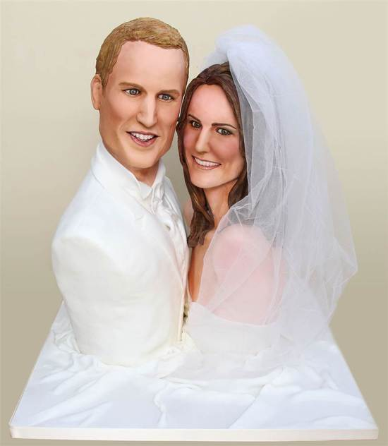 Prince William and Kate Middleton-inspired wedding cake