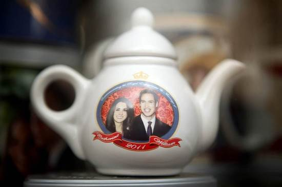 Royal wedding memorabilia- Prince William and Kate teapot