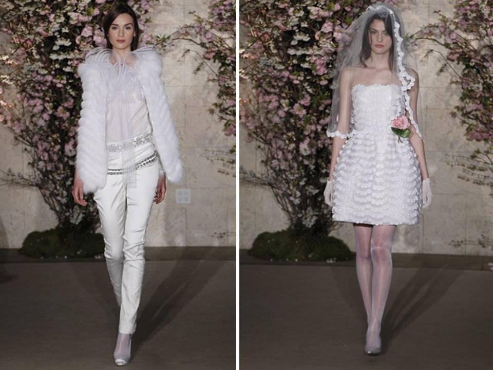 Chic-bridal-pants-suit-tailored-white-tux-fur-vest-short-wedding-reception-dress-2012.full