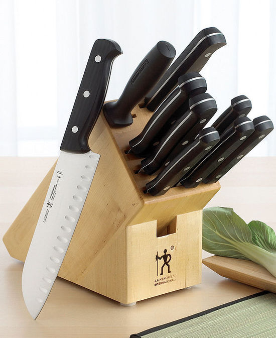 J.A. Henckels International East Meets West Fine Edge Pro Cutlery, 10-Piece Block Set