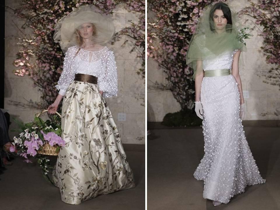 Oscar De La Renta Spring 2012 Nature Inspired Wedding Dresses