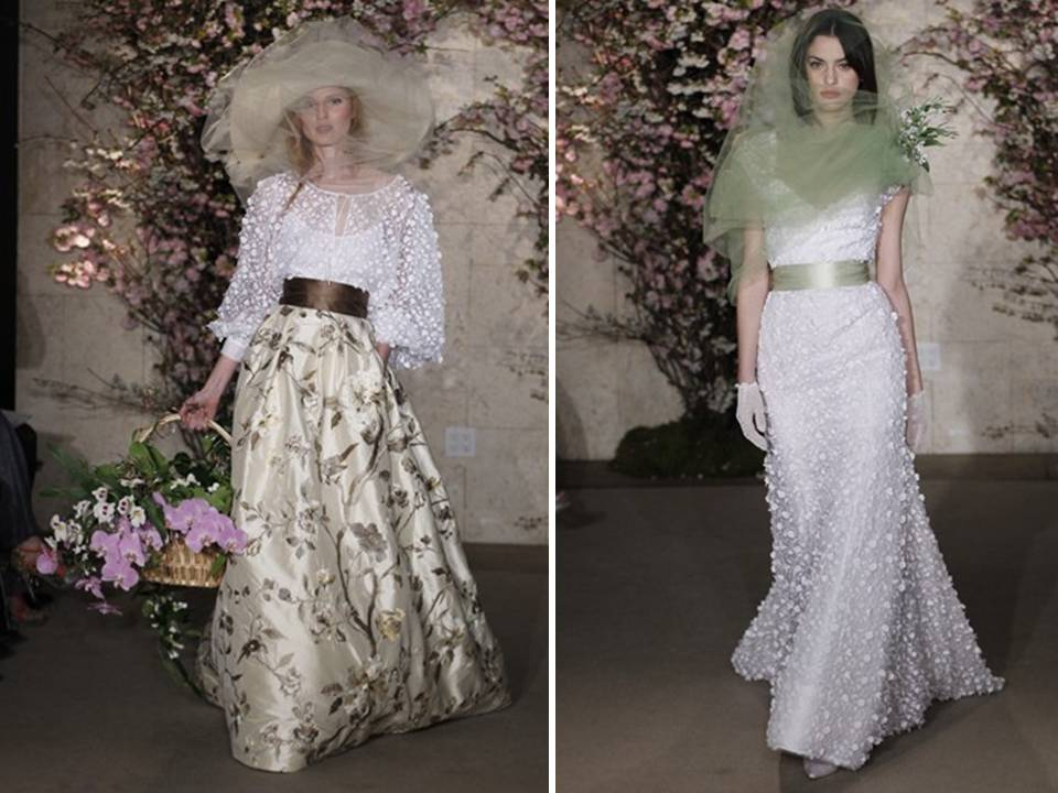 Oscar de la renta spring 2012 nature inspired wedding for Nature inspired wedding dresses