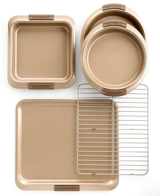 photo of Anolon Advanced Bronze 5 Piece Bakeware Set