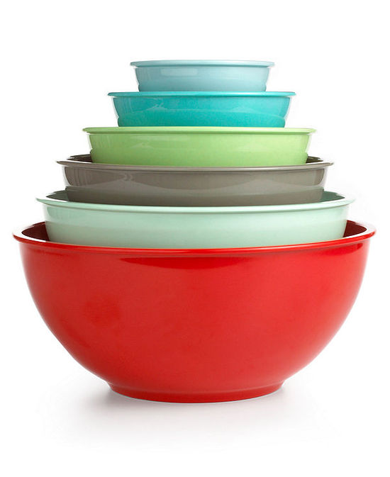 Martha Stewart Collection Set of 6 Melamine Mixing Bowls