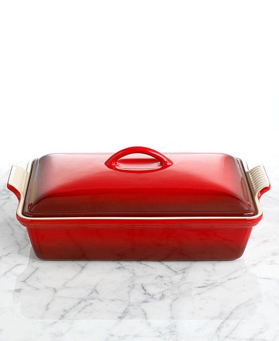 "photo of Le Creuset Heritage Stoneware 12"" x 9"" Covered Rectangular Baking Dish"