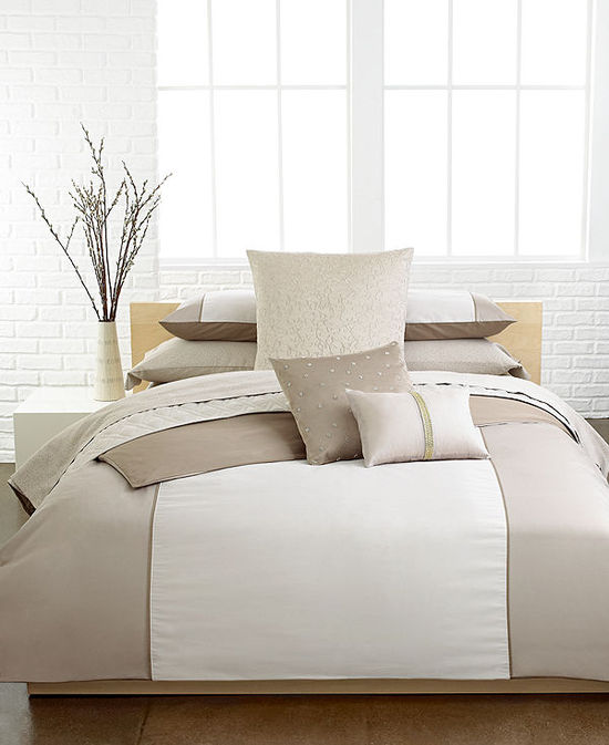 Calvin Klein Champagne Comforter and Duvet Cover Sets