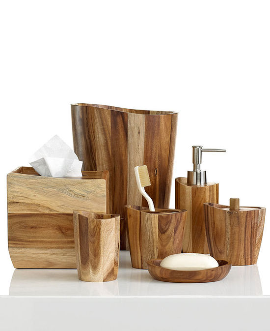 photo of Kassatex Bath Accessories, Acacia Collection