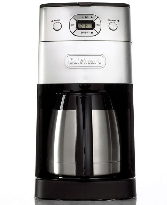 Cuisinart DGB-650BC Coffee Maker, Grind and Brew Thermal 10 Cup Programmable