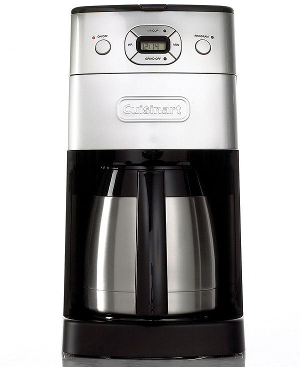 Cuisinart DGB-650BC Coffee Maker, Grind and Brew Thermal 10 Cup Programmable OneWed.com