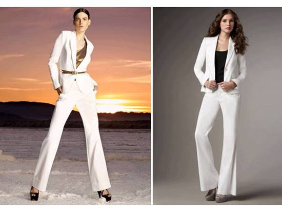 photo of 2011 Bridal Style Trends- White tailored suits for the bride