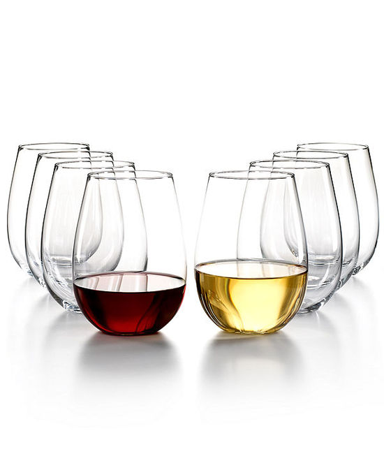 The Cellar Glassware, Set of 8 Premium Stemless Wine Glasses