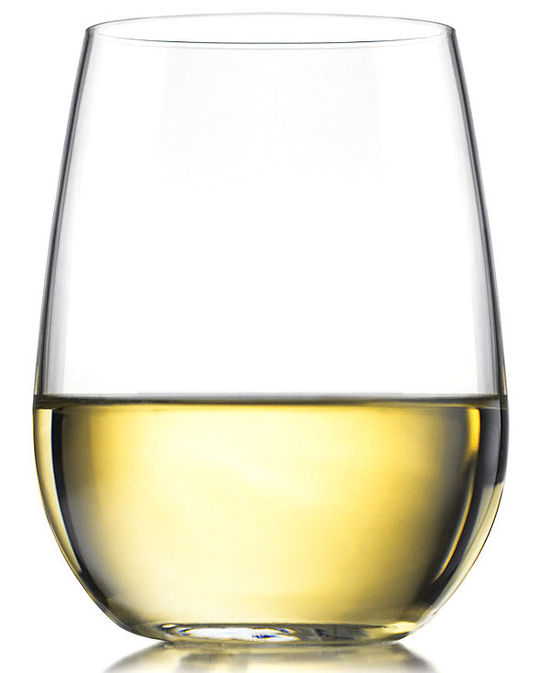 The Cellar Glassware, Set of 4 Basic Stemless Wine Glasses