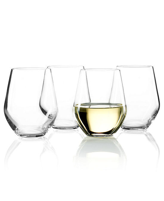photo of Lenox Stemware, Tuscany Classics Stemless White Wine Glasses, Set of 4