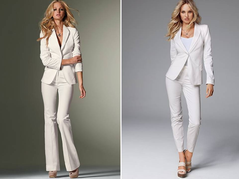 tailored suits for the high-fashion bride from Victoria\'s Secret