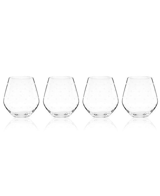 photo of kate spade new york Set of 4 Larabee Dot Stemless Red Wine Glasses