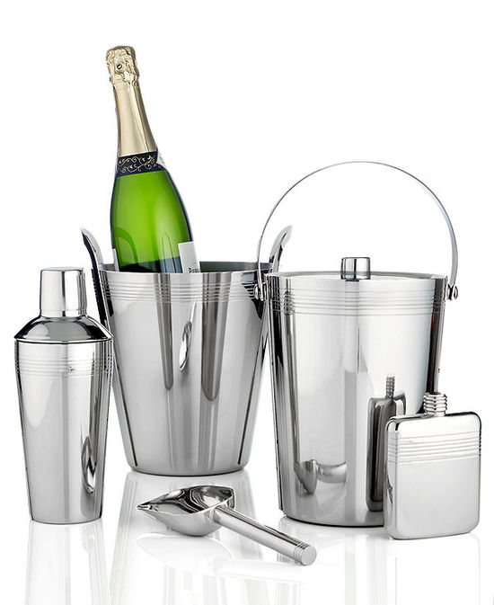 photo of Lenox Barware, Tuscany Stainless Steel Bar & Wine Accessories Collection