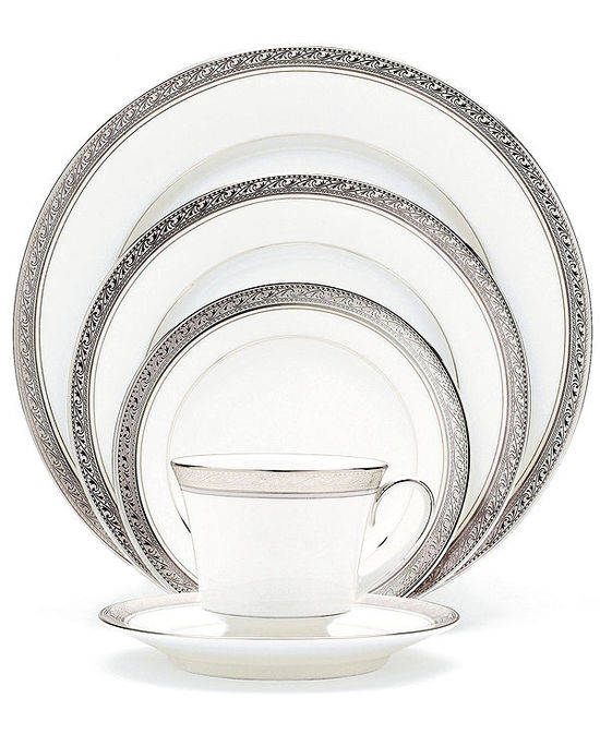 photo of Noritake Dinnerware, Crestwood Platinum Collection