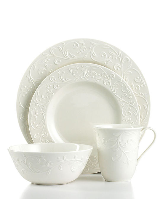 photo of Lenox Dinnerware, Opal Innocence Carved
