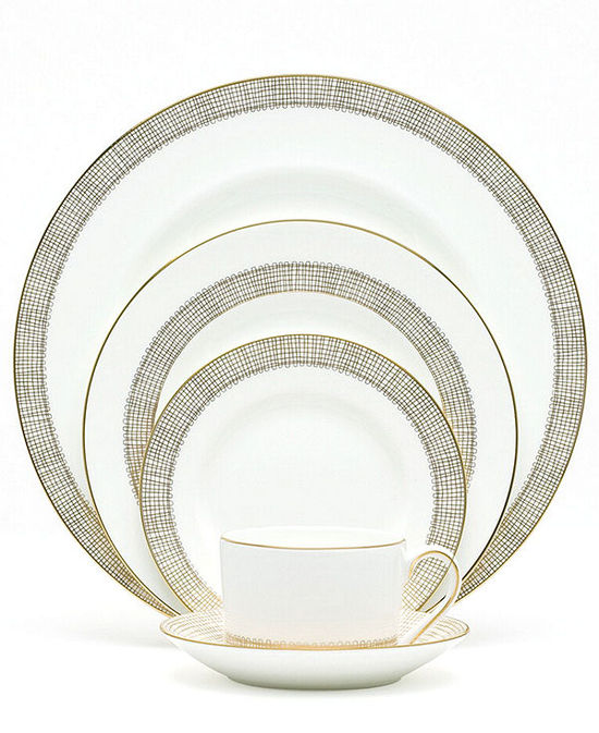 photo of Vera Wang Wedgwood Gilded Weave Dinnerware Collection