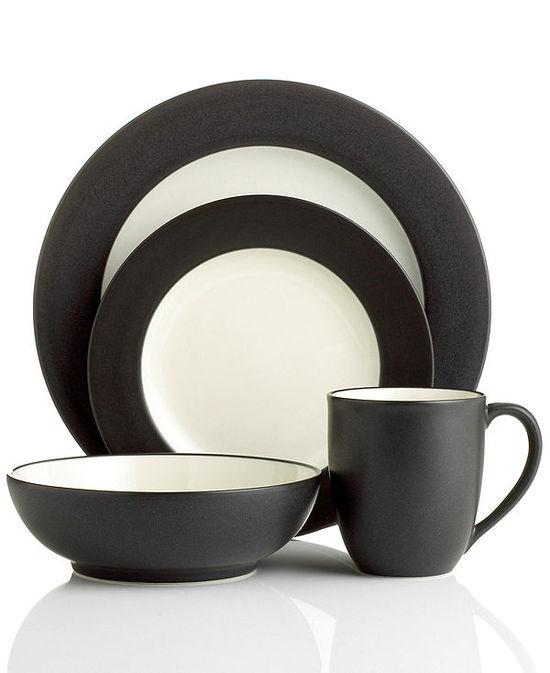 photo of Noritake Dinnerware, Colorwave Graphite Rim Collection