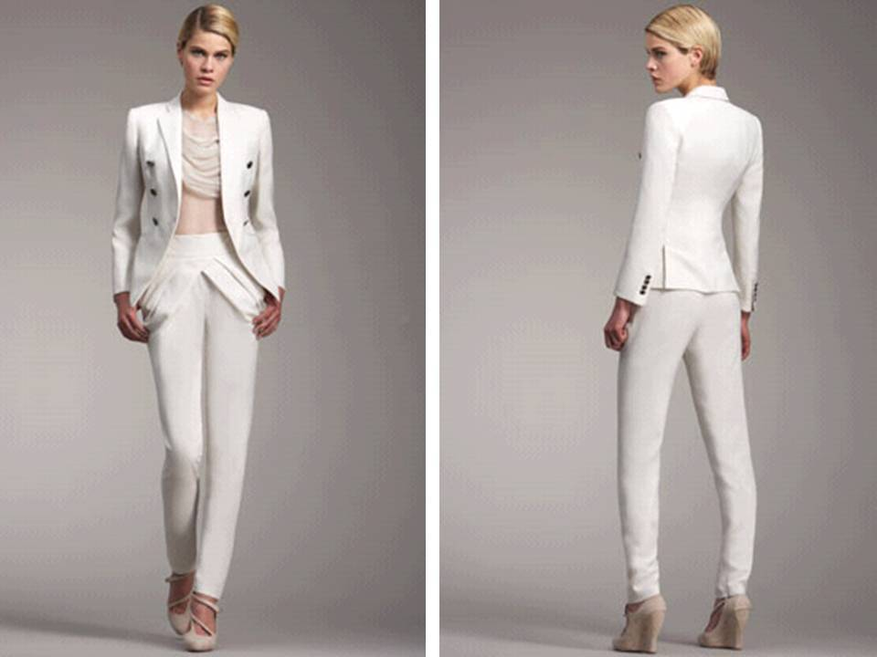 White Tailored Suits On Onewed