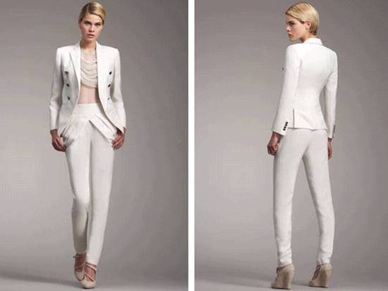 photo of 2011 Bridal Style Trends- White tailored suit from Armani Collection