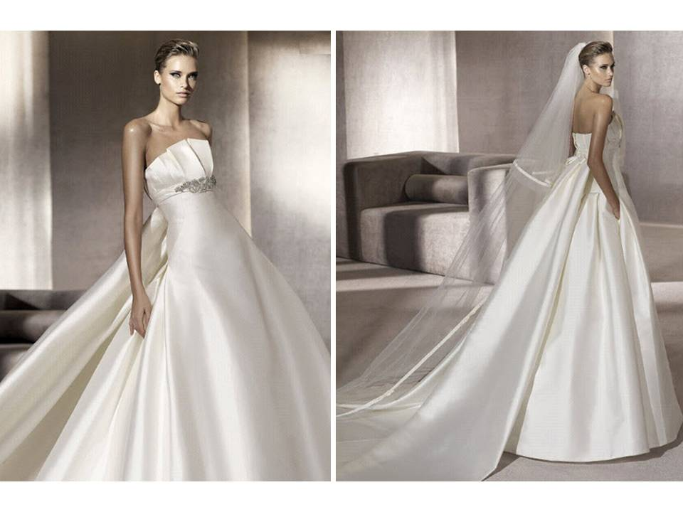 Classic ivory strapless ballgown wedding dress with for Wedding dress bling detail