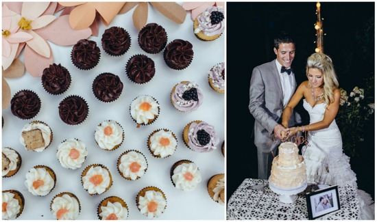 Cake cutting and mini desserts