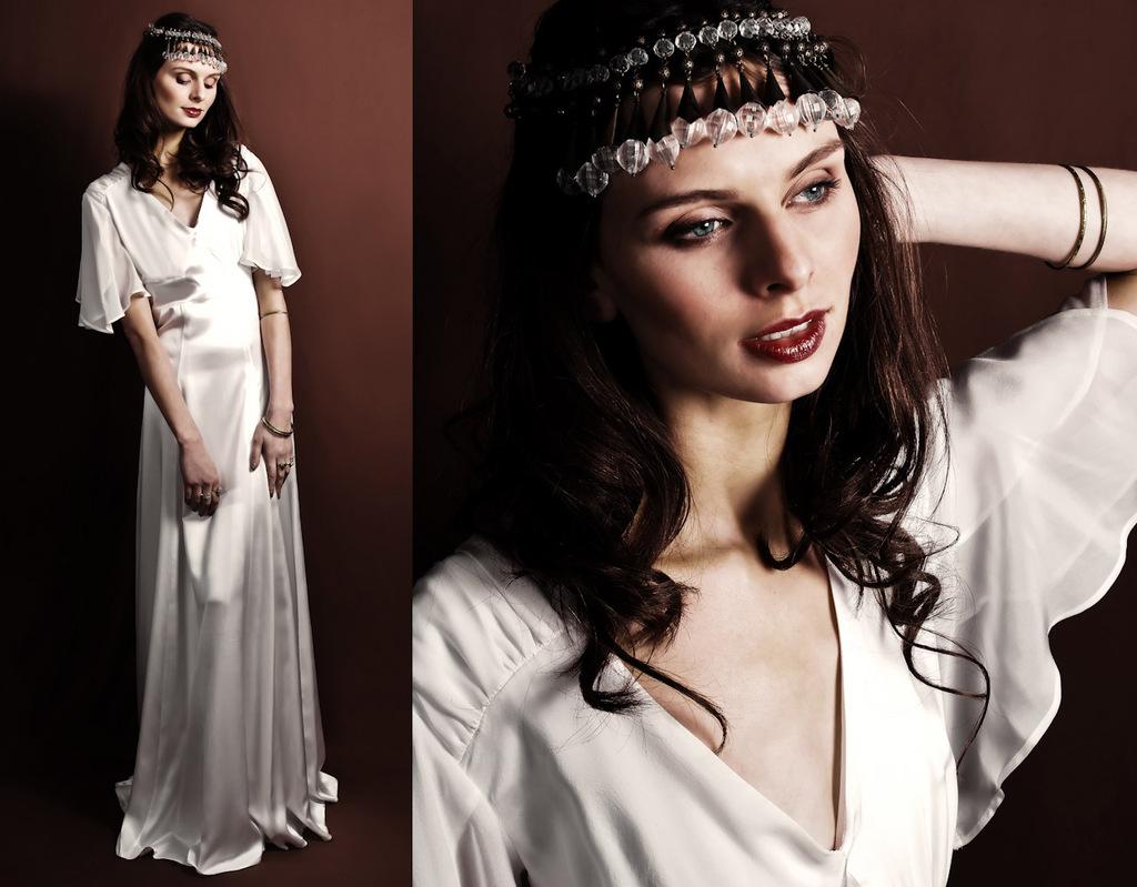 Vintage-inspired-white-silk-wedding-dress-flutter-sleeve.full
