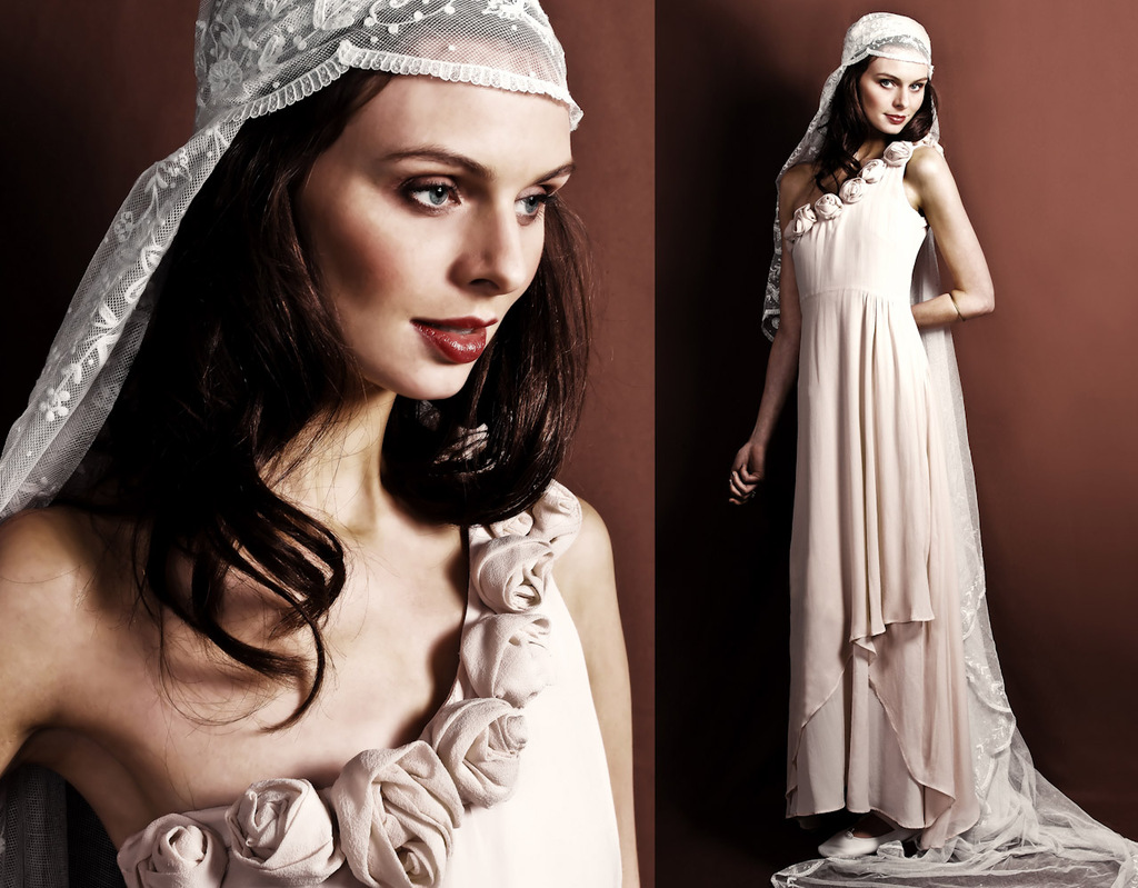 One-shoulder-ivory-wedding-dress-romantic-vintage-inspired-gown.full