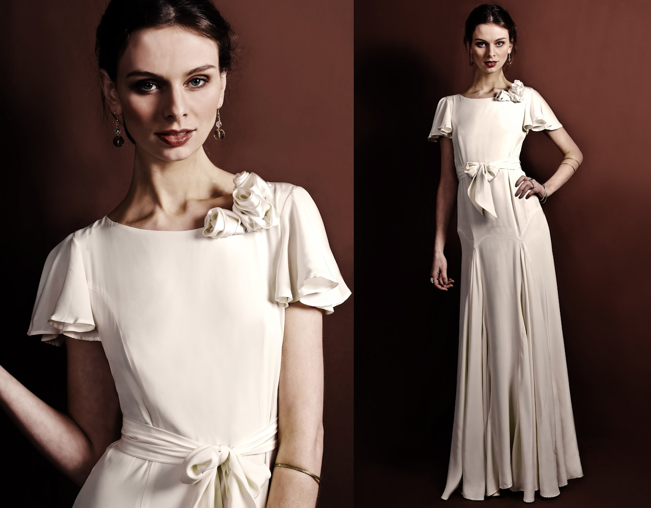 30s Inspired Wedding Dresses Vintage-inspired wedding dress