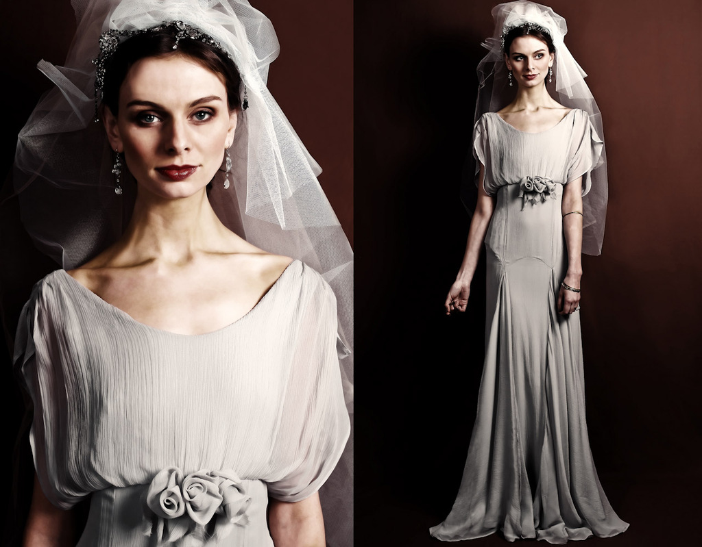 Slinky silk vintage inspired bridal gown ombrellifo Choice Image