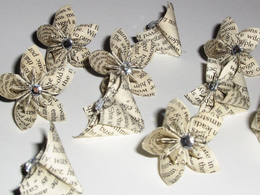 Recycled paper flowers for your wedding ceremony or reception mightylinksfo