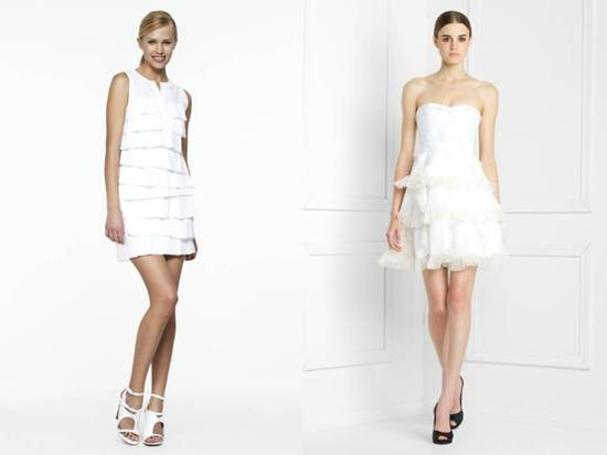 photo of Little White Dresses by BCBG: Wedding Hot for your Rehearsal Dinner and Reception