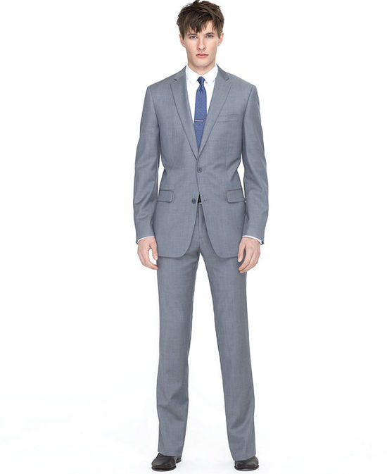 photo of Bar III Suit, Light Grey Twill Slim Fit