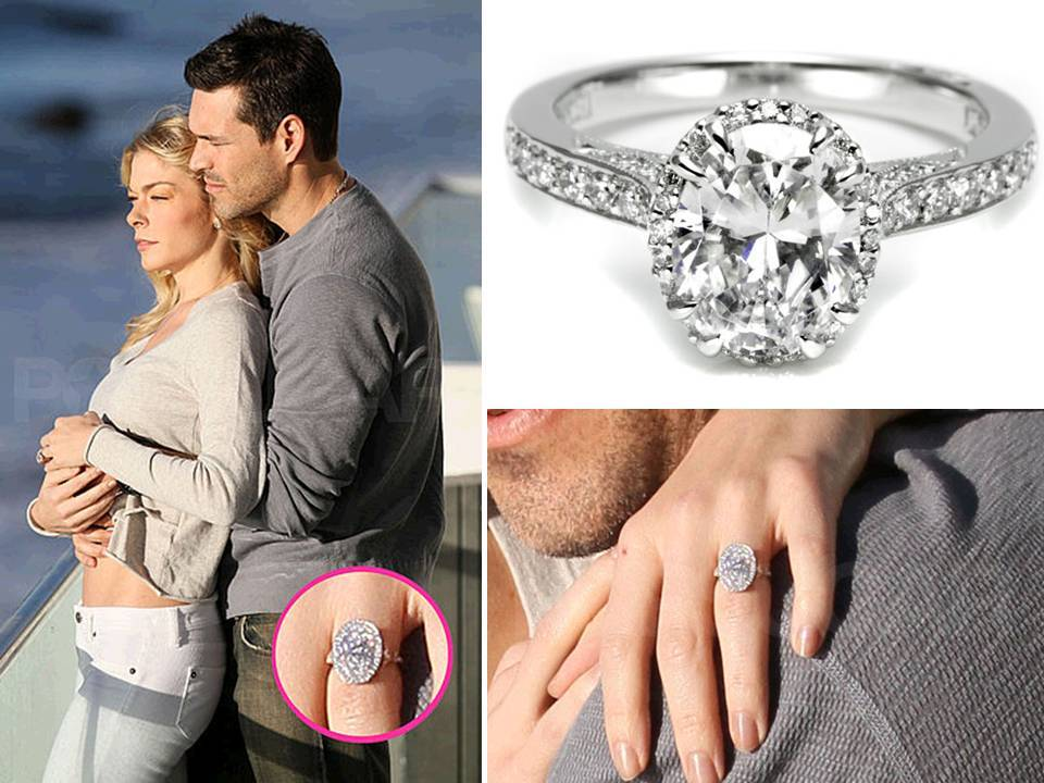 LeAnn Rimes Shows Off Oval Diamond Engagement Ring