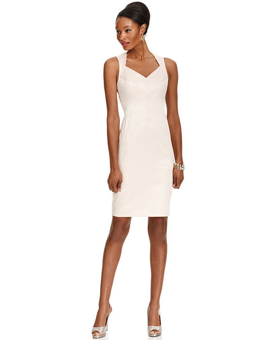 Jessica Sleeveless Seamed Sheath
