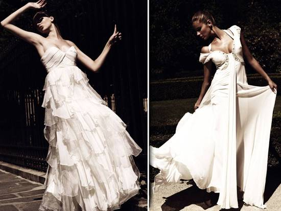 Chic 2011 wedding dresses by Italian couturier Ugo Zaldi