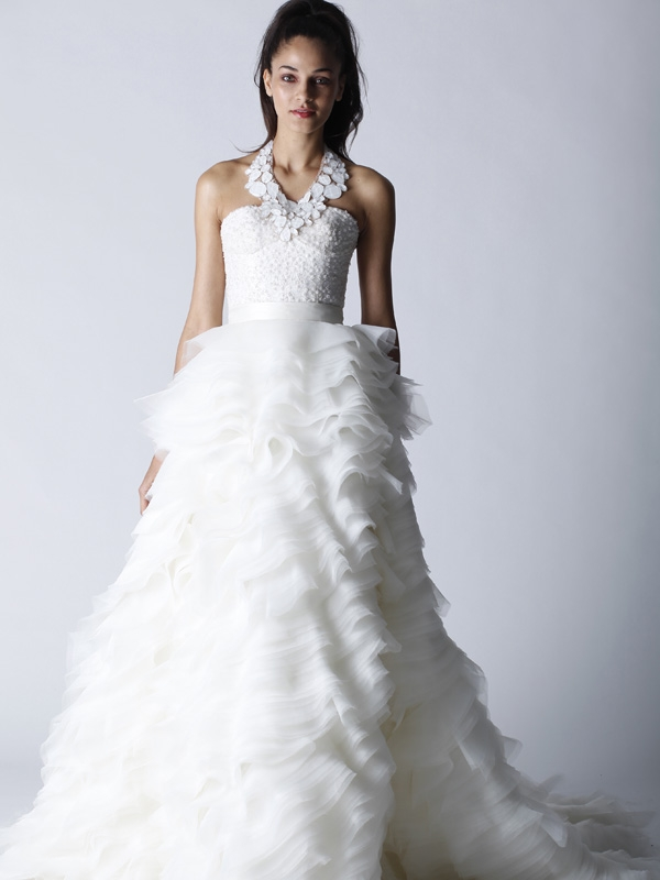 Glamourous fall 2011 melissa sweet wedding dress with for Strapless bustier for wedding dress