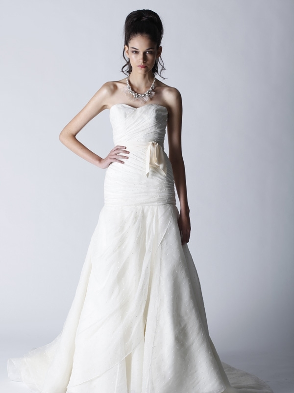 eff55a44a5 Fall 2011 Melissa Sweet wedding dress with sweetheart neckline and romantic  bridal sash