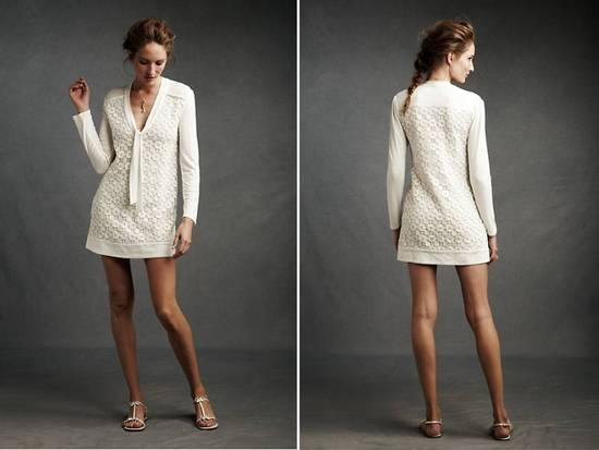 Short ivory shift dress by BHLDN, perfect for your honeymoon