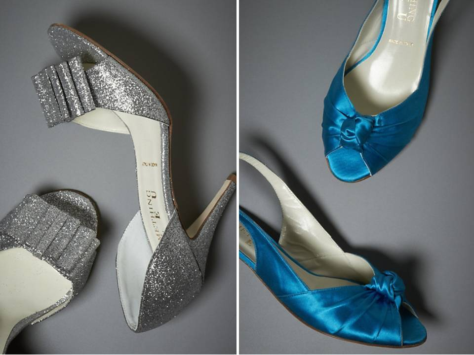 e7176e2f200 On-trend metallic open-toe bridal heels by BHLDN  low slingbacks for tall  brides