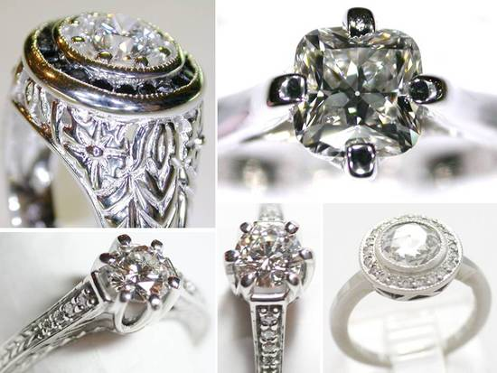 21st century heirloom engagement rings with unique settings