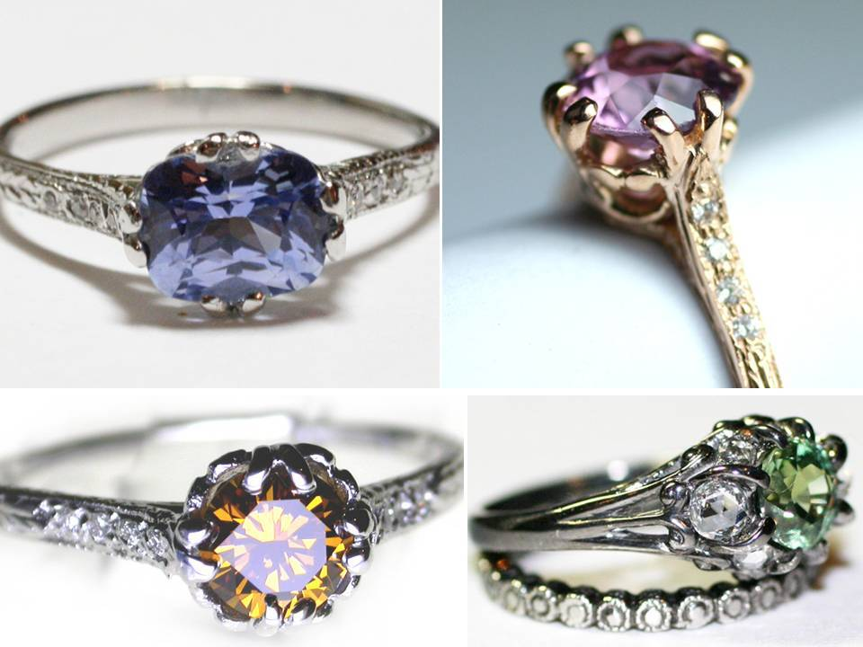 non diamond engagement rings featuring sapphires emeralds and more - Non Diamond Wedding Rings