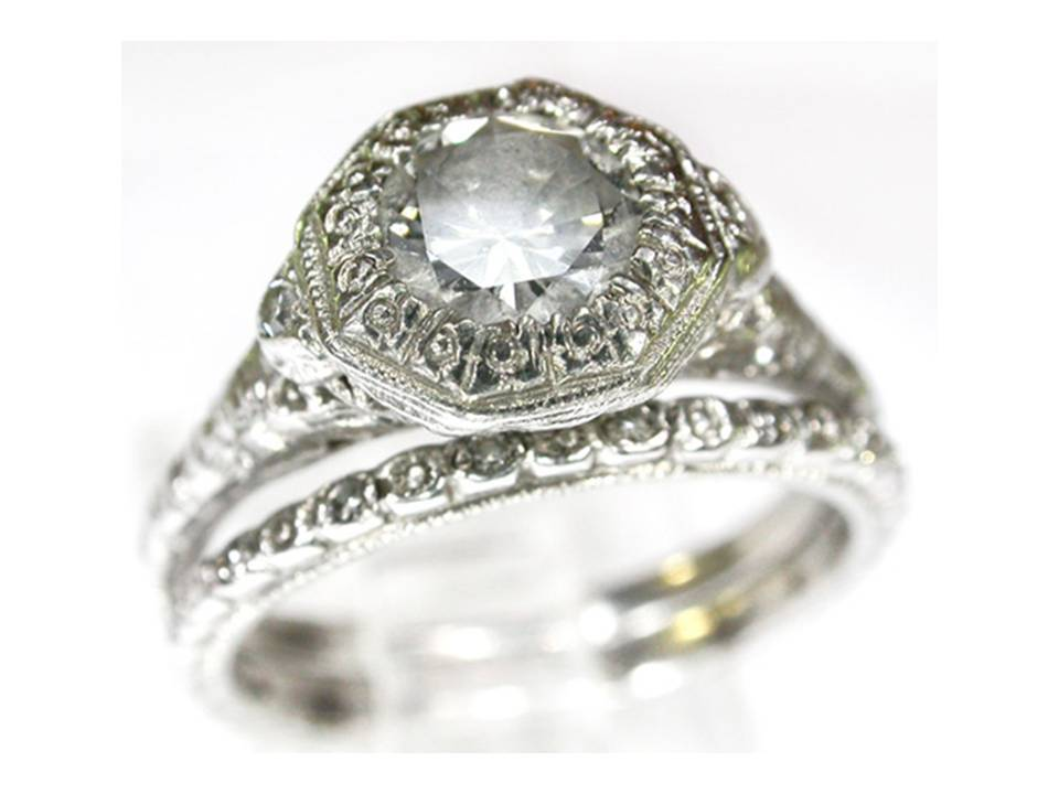 century heirloom diamond engagement ring