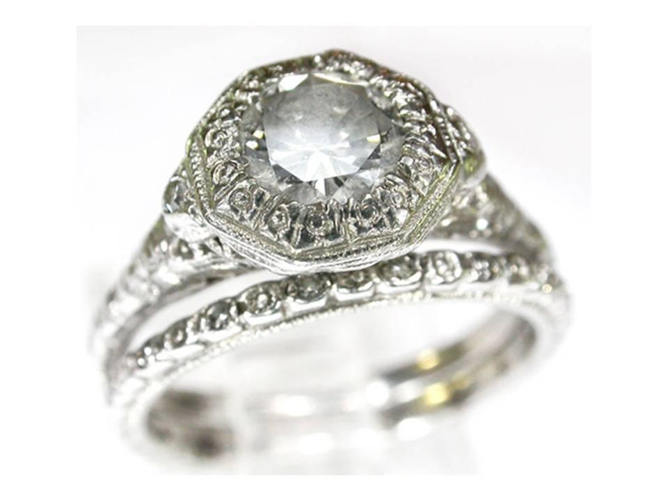 century heirloom diamond engagement ring