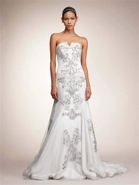 Chic 2011 Junko Yoshio embellished white wedding dress