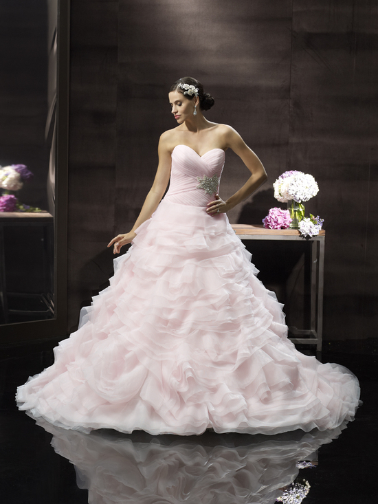 photo of Blush pink princess wedding gown from Moonlight Couture