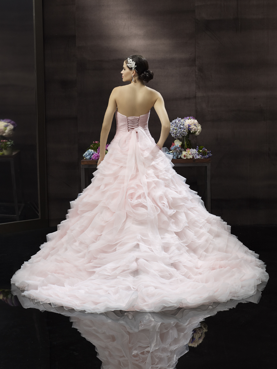 Blush pink princess wedding gown from Moonlight Couture